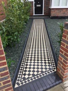 Classic Geometric Tiled Front Path