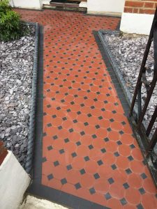 Terracotta Octagon Path
