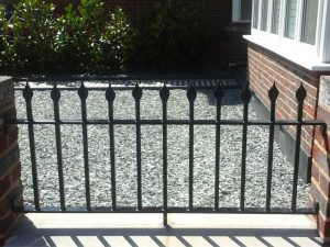 Classic Black Iron Railings